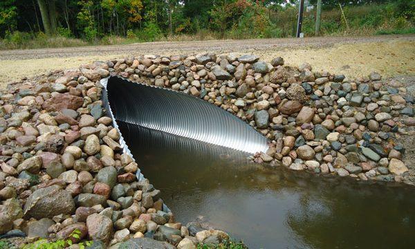 new road stream crossing tamarack creek montcalm county mi